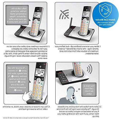 AT&T Expandable Corded/Cordless Smart Black/Silver with 2