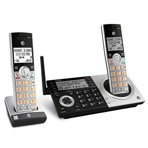 AT&T Expandable Cordless Phone with Smart with 2 Handsets