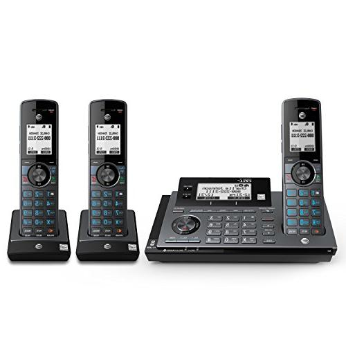 AT&T CLP99387 DECT Expandable with Smart Call Answering System, Blue with Handsets