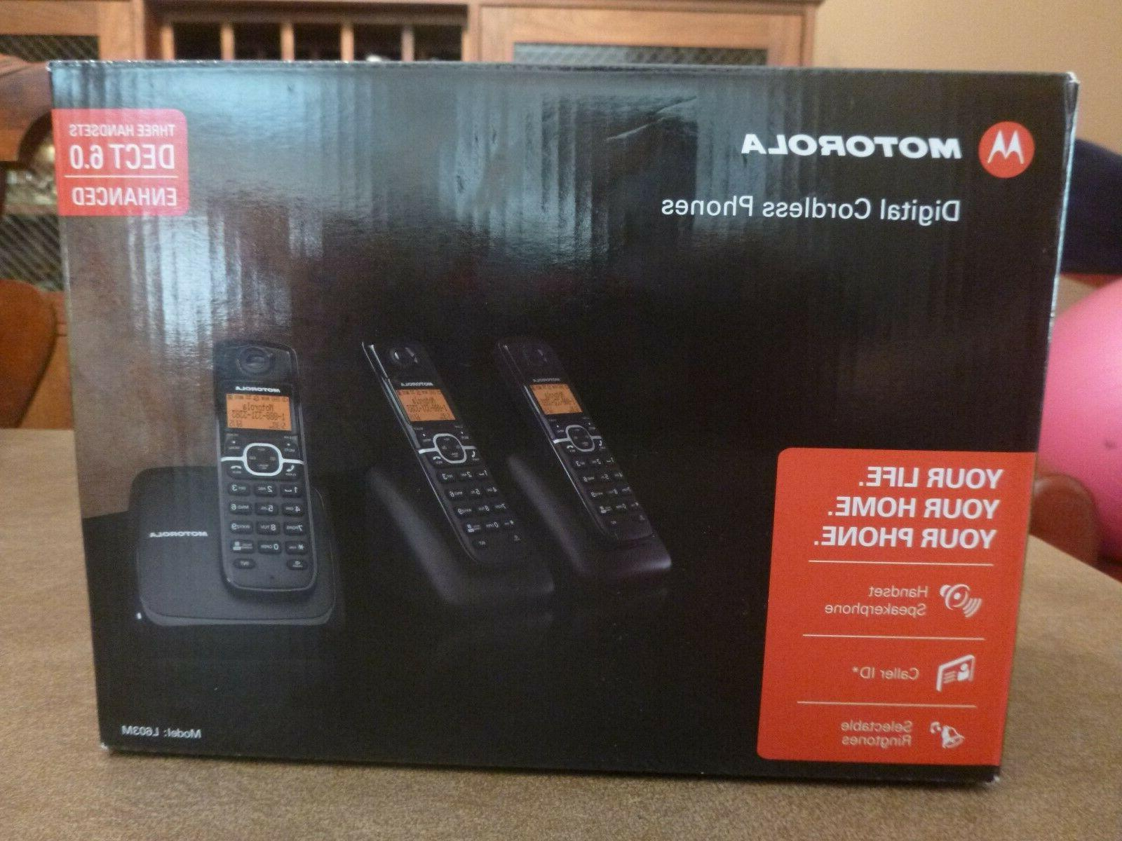cordless phone l603m with 3 handset new
