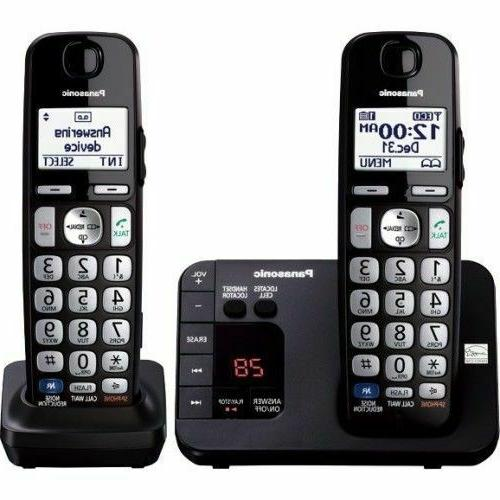 cordless phone with 2 handsets kx tge232b