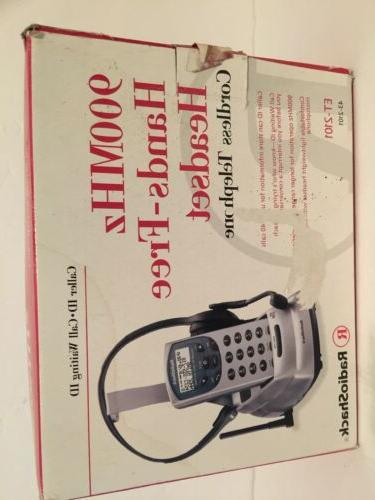 cordless telephone 900 mhz hands free headset