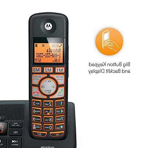 Big Backlit Button Phone with ID and Answering K702B - Black