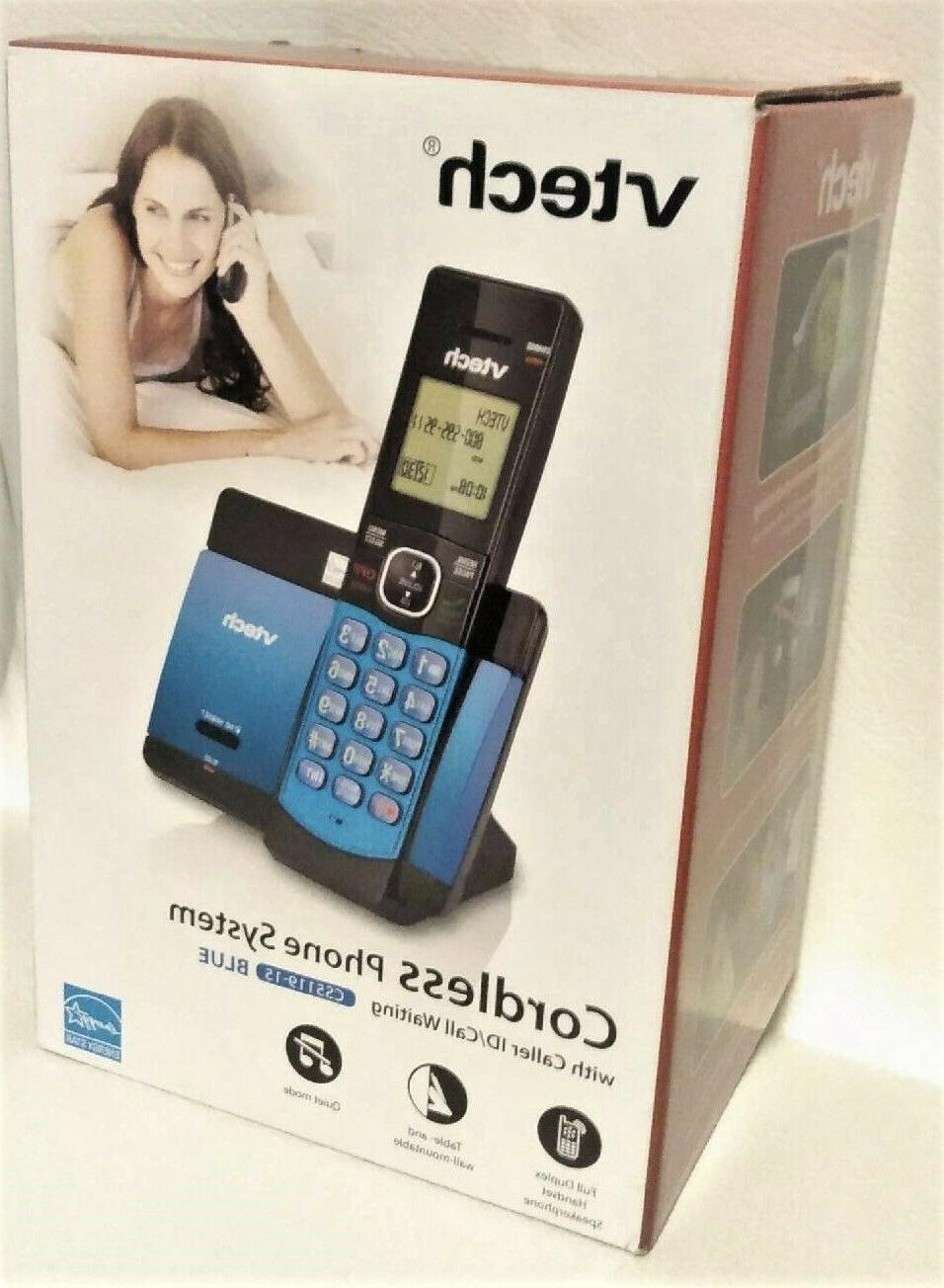 dect 6 0 cordless phone system blue