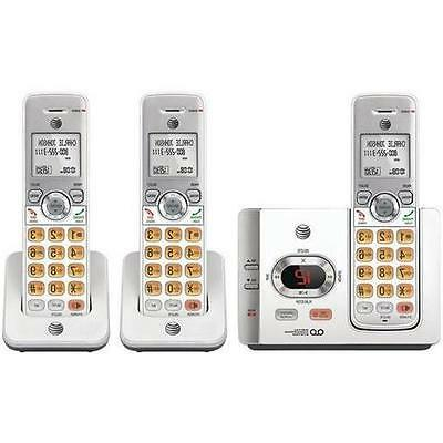 AT & T DECT 6.0 - White Cordless - Line Handset-Speakerphone-Answering