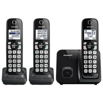 expandable cordless phone with 3 handsets in