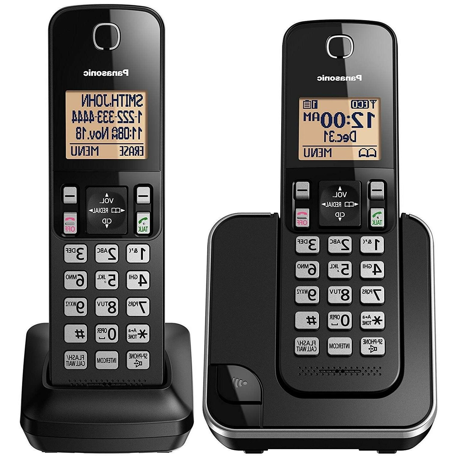 home phone set cordless system portable battery