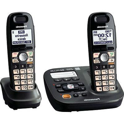 Panasonic Expandable Digital Cordless Answering System with 2 handset