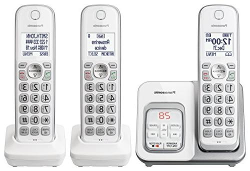 Panasonic Phone with and Answering 3 Handsets