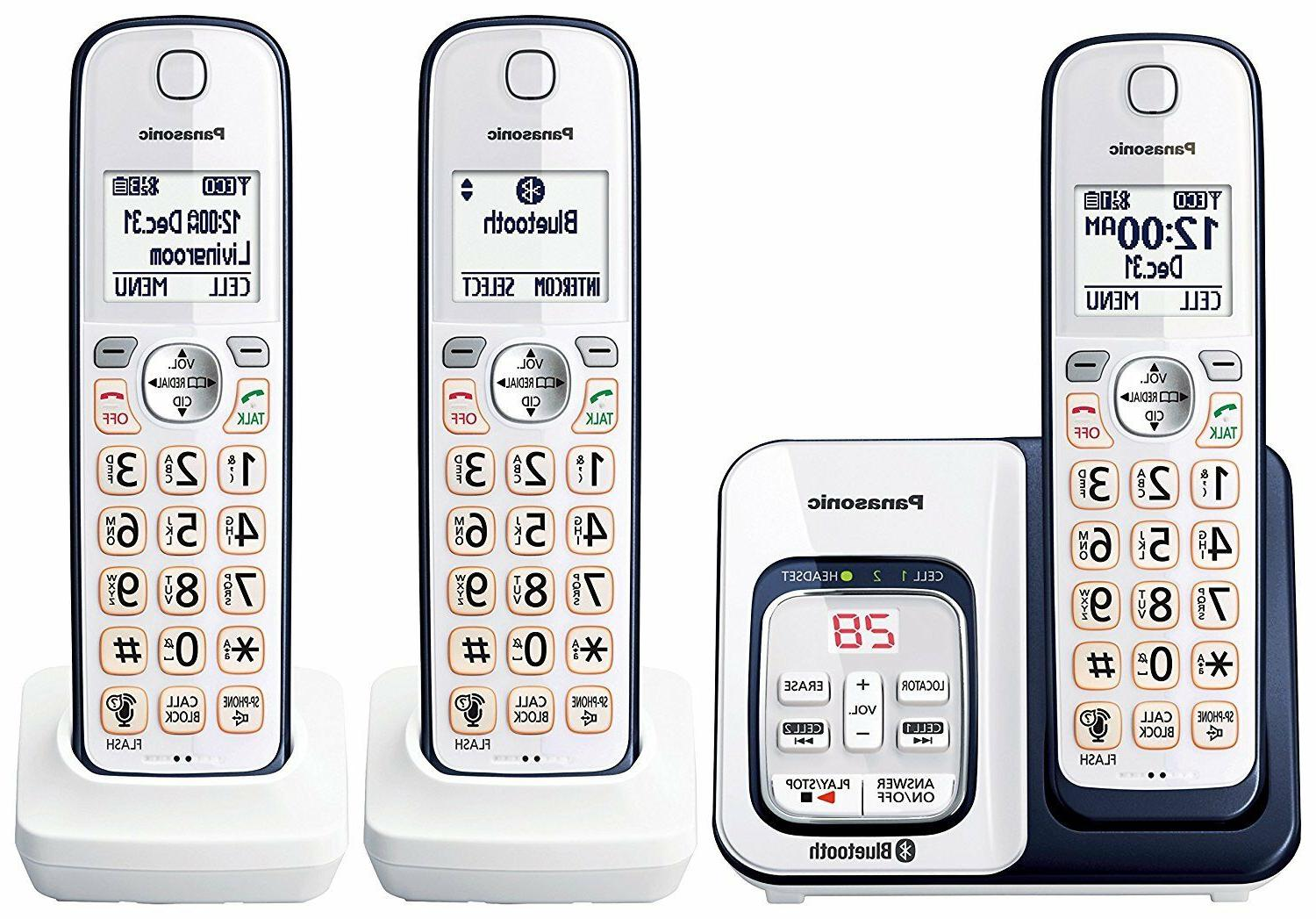 kx tgd563a bluetooth cordless phone with voice