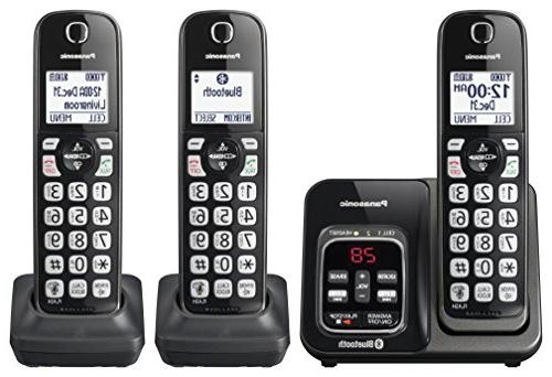 Panasonic Cordless Phone Assist Answering - 3 Handsets