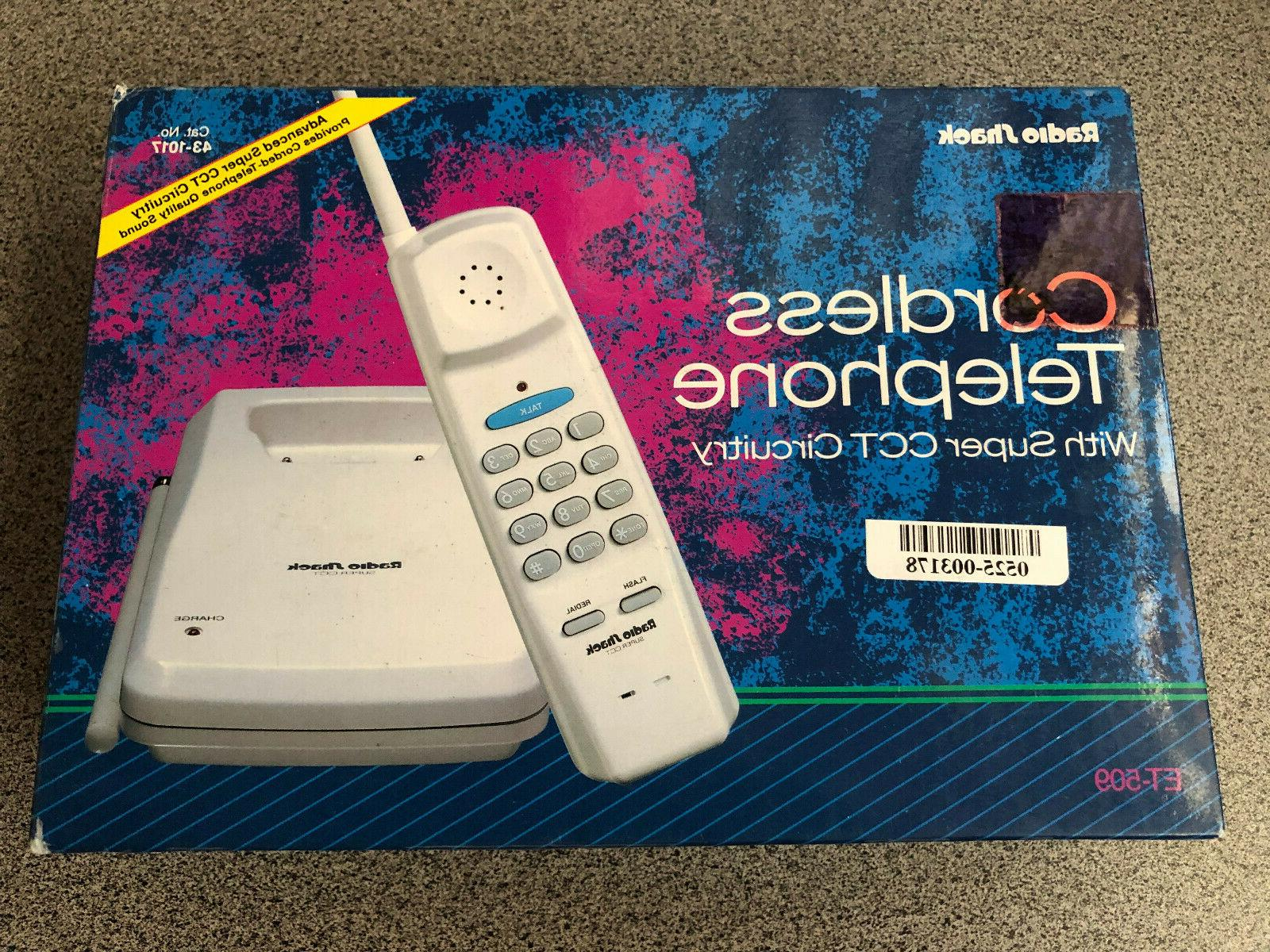 new cordless telephone with super cct circuitry