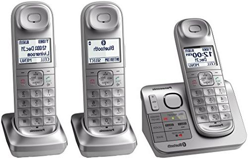 silver link2cell bluetooth cordless phone