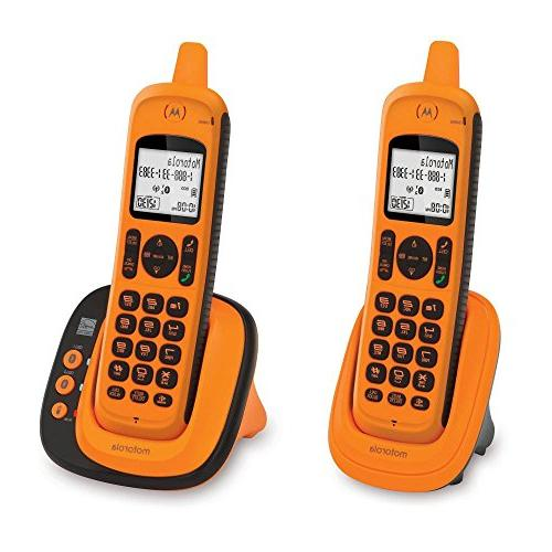 Motorola DECT 6.0 Rugged Waterproof Cordless with Connect to Cell, Amber, Handset