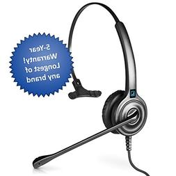 Leitner LH240 Single-Ear Corded Telephone Headset with 2.5mm