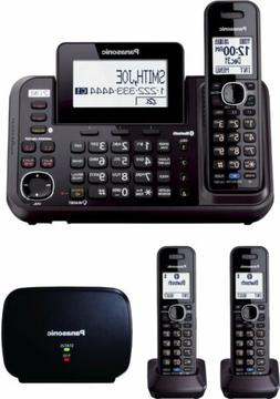 Panasonic Link2Cell 2-Line Phone & 3 Cordless Handset w/ Ran