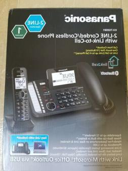 NEW Panasonic 2-Line Corded/Cordless Phone System w/ Link2Ce