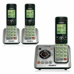 New 3-Handset Cordless Phone with Answering System DECT 6.0