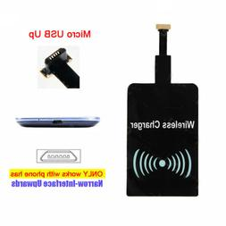 Qi Wireless Charger Receiver Cordless Power for UP Micro USB
