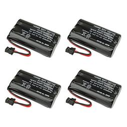 4 Pack Fenzer Replacement Cordless Phone Battery for Uniden
