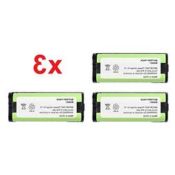 3 Pack Fenzer Replacement Cordless Phone Rechargeable Batter