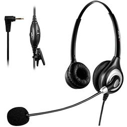 Arama Telephone Headset with Microphone Wired Phone Headset