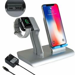 Wireless Phone/Watch Charging Stand Combo Cordless Charger i